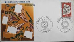 ENVELOPPE 1er JOUR 1974 - Journée Du Timbre - Espalion Le 09.03.1974 - En Parfait état - - 1970-1979
