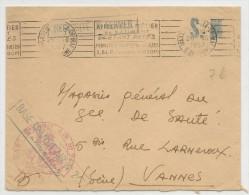 1957 - ENVELOPPE De La BASE TRANSIT AIR N° 247 De MARSEILLE - Marcophilie (Lettres)