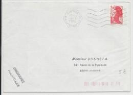 1984 - BASE AERIENNE - ENVELOPPE De VILLACOUBLAY AIR - Marcophilie (Lettres)