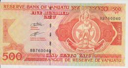 Vanuatu 500 Vatu ND Pick 5 Serial BB UNC - Vanuatu