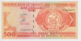 Vanuatu 500 Vatu ND Pick 5 Serial CC UNC - Vanuatu