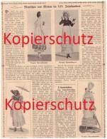 Original Zeitungsbericht - 1908 - Mode Im XIX. Jahrhundert , Vernet , Haller Von Hallerstein , Titcomb  !! - Historische Bekleidung & Wäsche