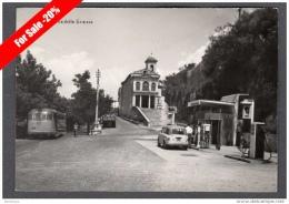 1957 ARPINO PIAZZA DELLE GRAZIE FG V SEE 2 SCANS ANIMATA CORRIERE BENZINAIO AGIP DISTRIBUTORE - Italia