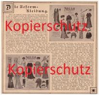 Original Zeitungsbericht - 1908 - NELDA - Die Reformkleidung , Puppe , Mode , Historische Kleidung !! - Historische Bekleidung & Wäsche