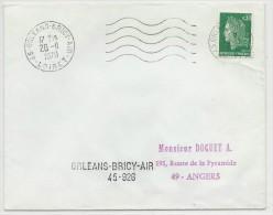 1970 - BASE AERIENNE - ENVELOPPE De ORLEANS BRICY AIR (LOIRET) - Marcophilie (Lettres)