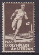 ERINNOFILO  -1928 IX OLIMPIADE AMSTERDAM OLIMPIC GAME SPORT