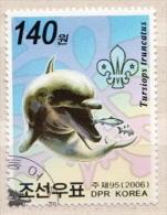 North-Korea CTO Stamp - Dolphins