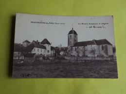 Cp Beaumotte Les Pins  La Maison Commune Et L'Eglise Et La Cure   Edit. CLB - France
