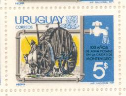 100ME ANNIVERSAIRE DE L´EAU POTABLE POUR LA CITE DE MONTEVIDEO FILIGRANE F DENTELE 12 1971 MNH - Uruguay