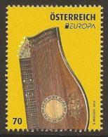 "AUSTRIA/ ÖSTERREICH /L´AUTRICHE - EUROPA 2014-TEMA ANUAL "" INSTRUMENTOS MUSICALES NACIONALES""- SERIE De 1 V. - Europa-CEPT"