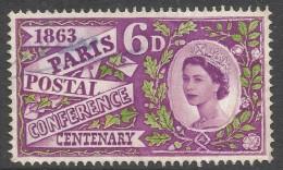 Great Britain. 1963 Paris Postal Conference Centenary. 6d Used. SG 636 - 1952-.... (Elizabeth II)