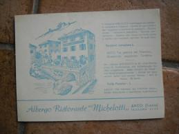 Cartolina Commerciale ALBERGO RISTORANTE MICHELOTTI ARCO DI TRENTO Viaggiata In Busta - Trento