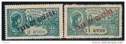Macau, 1919, # 1/2, Imposto Postal, MH - Macau