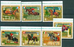 Guinea Equatorial 1972 Equestrian Horse Horseman Olympics Munchen 7v MNH - Equatorial Guinea