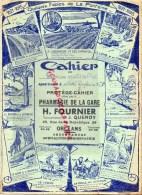 45 - ORLEANS - PROTEGE CAHIER SCIENCES NATURELLES - H. FOURNIER PHARMACIE- J. QUEROY- 29 RUE REPUBLIQUE- LA FONTAINE - Buvards, Protège-cahiers Illustrés
