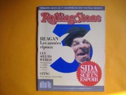 ROLLING STONE  -  N° 3  -  Mars / Avril 1988 -  REAGAN  -  Les Années Ripoux  -  Sida  -   Soeurs Weber - Musique