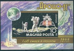 1980 Hungary Space Astronaut Cosmonaut Moon Apollo Landing Earth Globe S/S Used - Space