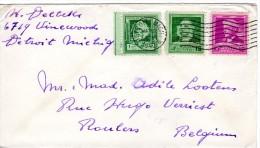1940 VAN US NAAR BELGIE - Covers & Documents