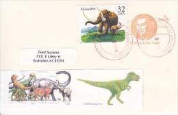 USA Airmail Postcard, Dinosaurs,    (Z-9631) - Fossili