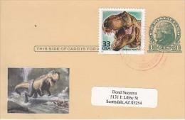 USA Airmail Postcard, Dinosaurs,    (Z-9633) - Fossili
