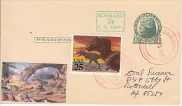 USA Airmail Postcard, Dinosaurs,    (Z-9636) - Fossili