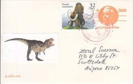 USA Airmail Postcard, Dinosaurs,    (Z-9637) - Fossili