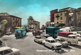 LAZIO-VITERBO-MONTEFIASCONE VEDUTA PIAZZA ROMA AUTO EPOCA AUTO CORRIERA BENZINAIO ANIMATISSIMA - Altre Città