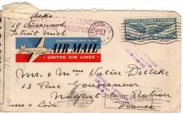 1941 VAN US NAAR FRANCE - Covers & Documents