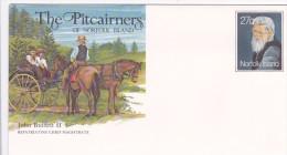 Norfolk Island,1983 The Pitcairners ,John Buffett II, Pre Stamped Envelope 011 Mint - Norfolk Island
