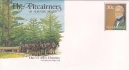 Norfolk Island,1984 The Pitcairners ,Charles Allen Christian, Pre Stamped Envelope Mint - Norfolk Island