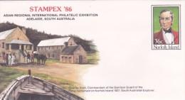 Norfolk Island,1986 Stampex 86, Pre Stamped Envelope 018  Mint - Norfolk Island