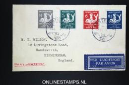 Netherlands: Airmail Cover 1930  Amsterdam To Birmingham  NVPH 225 - 228 - Periode 1891-1948 (Wilhelmina)