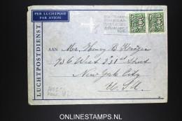 Netherlands: Airmail Cover Naarden Via Lisboa  To USA  NVPH 363 Strip X 2 Censored - Periode 1891-1948 (Wilhelmina)