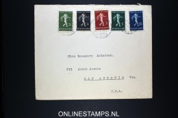 Netherlands: Airmail Cover Rotterdam - San Antonio USA To SS Blommersdyk 1939 NVPH 327-331 - Brieven En Documenten