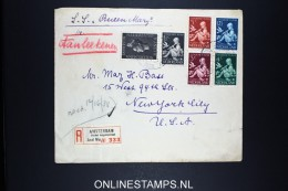 Netherlands: Registered Cover Amsterdam - New York USA With S.S. Queen Mary , 1938 NVPH 313 - 317 - Periode 1891-1948 (Wilhelmina)
