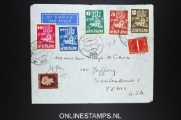 Netherlands: Airmail Cover Leiden To San Antonio Texas USA 1950 NVPH 556 - 560 - Periodo 1949 – 1980 (Juliana)