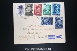 Netherlands: Airmail Cover To Berkeley USA 1951 NVPH 573 - 577 - Periodo 1949 – 1980 (Juliana)
