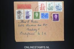Netherlands: Airmail Cover Stein To Berkeley USA 1951 NVPH 568 - 572 - Periodo 1949 – 1980 (Juliana)