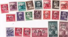 Italy  Venezia Giulia 1945 47 Definitive Mint Hinged Set - 4. 1944-45 Social Republic