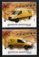 Macedonia 2013 EUROPA, Postal Wehicles, Cars,  Mercedes, VW, Transportation, Set MNH - Europa-CEPT