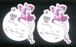3 X Singapore Perfume Cards Carte Parfumee -- ANNA SUI SECRET WISH - Perfume Cards