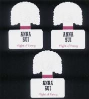 3 X Singapore Perfume Cards Carte Parfumee -- ANNA SUI FLIGHT OF FANCY - Cartes Parfumées