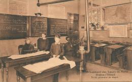Braine-l´Alleud - Ecole Primaire 4e Degré-Etablissement Des Soeurs De Marie-Classe Avec élèves Et Vieux Poêle à Charbon. - Braine-l'Alleud
