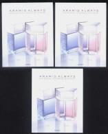 3 X Singapore Perfume Cards Carte Parfumee --  ARAMIS ALWAYS - Perfume Cards