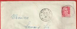 L'Hopital 1.7.1946  Moselle - Marcophilie (Lettres)
