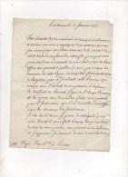 ARGENSON DE VOYER DE PAULMY,Marquis D´.Lettre Autographe Signée.à M.VIGIER DE LA PILE  .Les Ormes Le 31 Janvier 1777 - Autographs