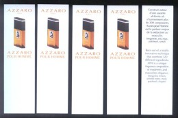 5 X Singapore Perfume Cards Carte Parfumee --  AZZARO POUR HOMME - Modern (from 1961)