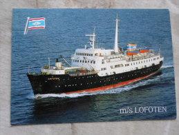 Norway NORGE - MS LOFOTEN - Nordkapp  02 FEB 1990  Steamer  Paquebot Handstamp    D128343 - Norwegen
