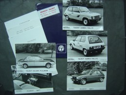 "1982 - farde de Presse - Peugeot - Talbot Samba Rallye - Peugeot 104 ""Z"" - Talbot Solara"