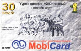 *MONGOLIA* - Scheda Usata - Mongolië